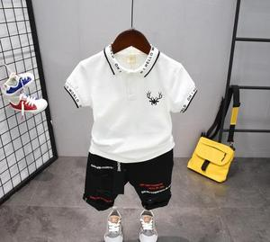 Children Clothing Summer Boys Clothes Suit  boys Clothes T-Shirt and Shorts pants 2pcs Outfit Kids 2-6years