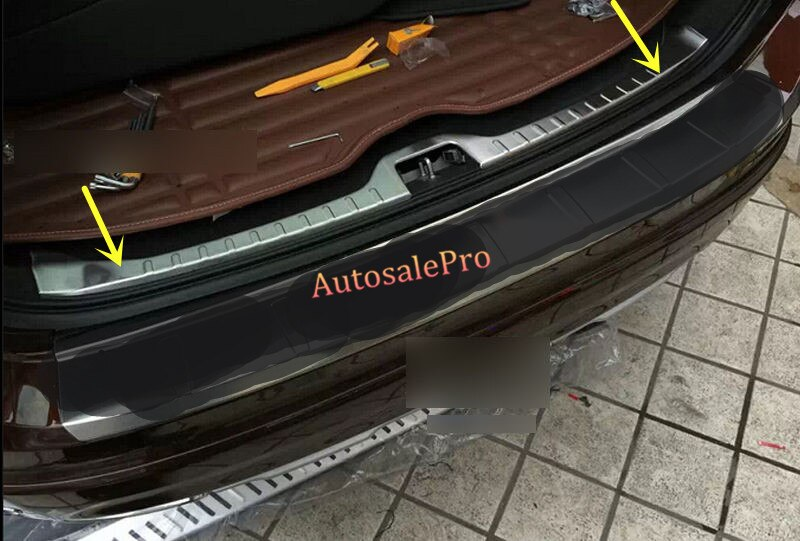 Revestimiento de placa protectora de Protector de Parachoques Trasero interior inoxidable para VOLVO XC60 2014 2015