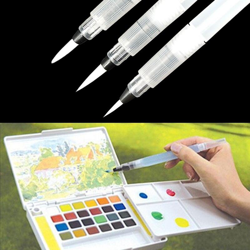 1 ud./s M L pluma de tinta de cepillo de agua recargable para agua caligrafía de Color dibujo pintura ilustración 2019 nueva llegada