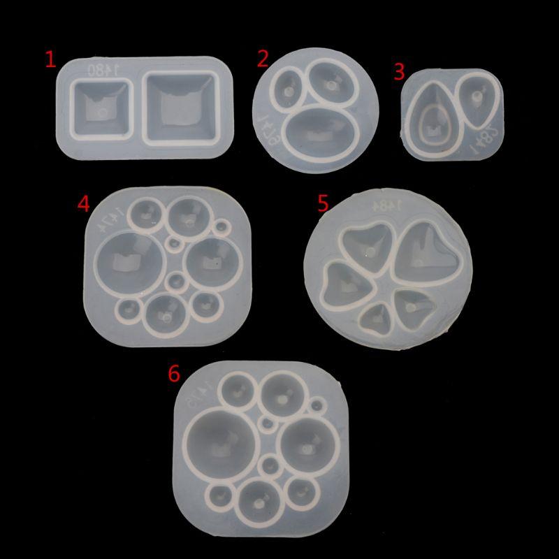 Envío Gratis, cabujón de cristal cuadrado de Teadrop elipse de medio corazón redondo, molde de resina, fabricación de joyería