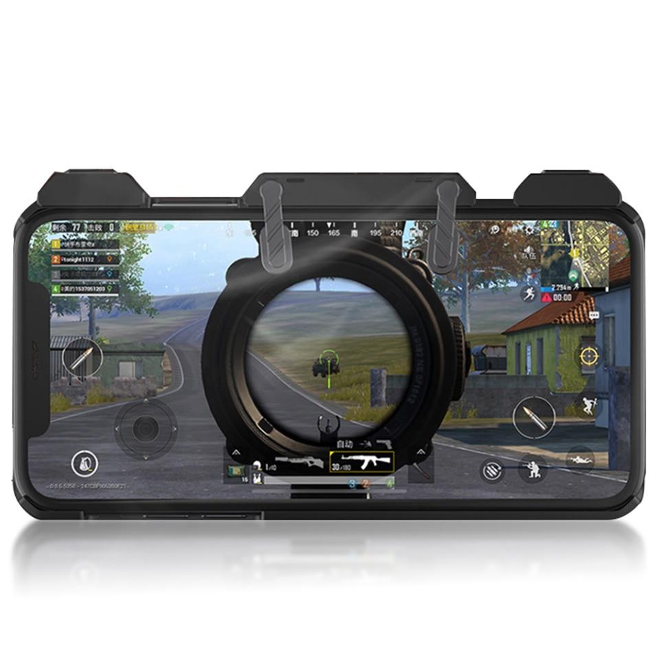 Nuevo controlador de juego para móvil PUBG, disparador de mando, botón de objetivo L1R1 joystick disparador con carcasa de teléfono para iPhone 6/7/8/x
