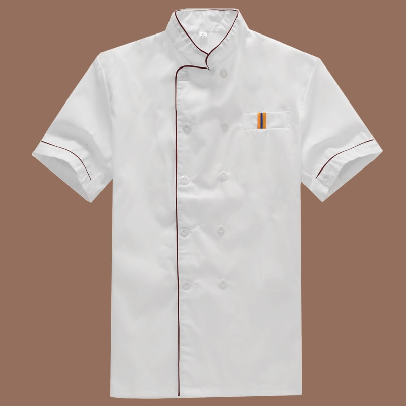 New Arrival Food Service Cloth Kitchen Chef Jackets Uniform Short Sleeve Hotel Cook Workwear Clothes Restaurant Chief