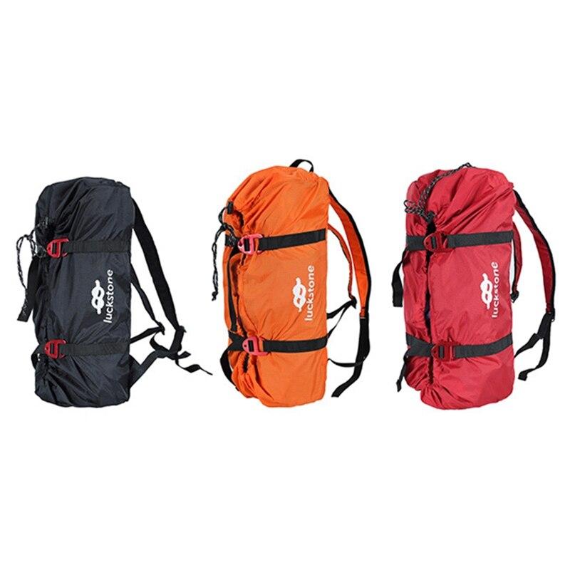 Bolsa de cuerda para escalada en roca, bolsa de equipo de escalada, mochila para equipo de escalada, bolsa de almacenamiento con correas de hombro