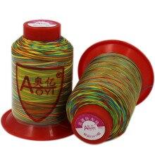 Высокопрочная цветная нейлоновая швейная нить, ручная работа, промышленные джинсы, джинсовая холщовая обивка, кожаная нить