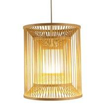 Giapponese di bambù Lampade A Sospensione giardino del Tè bedlamp creativo southeast ristorante lampada balcone LU71589 -YM