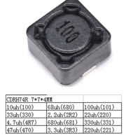Free shipping 10pc SMD inductorCDRH74R 7 7 4MM 10uH 100uh 4 7uh 22uh shielded inductor more value pls check the page