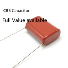 10 pcs/lot Original CBB 104J 250 V 0.1 UF P10mm condensateur de Film métallisé 104 250 V 0.1 UF