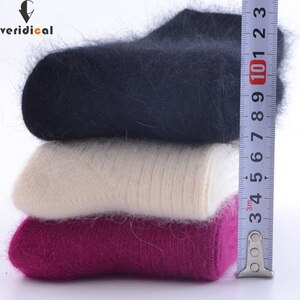 VERIDICAL 2020New High Quality Thick Socks Rabbit wool 5 pairs/lot woman Socks Classic Business Winter Sock For woman Long sock