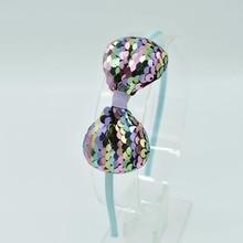 Fashion Woman Children's Bow Headwear Hair Band kids Color Fish Scale Hair Band Color Baby Hair Band Hair Accessories