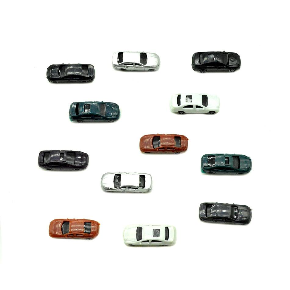 50 Uds 1/200 Kits de coches a escala, coches de juguete para niños, diseño arquitectónico, paisaje, arena, mesa, tren, camino, Diorama, Plástico
