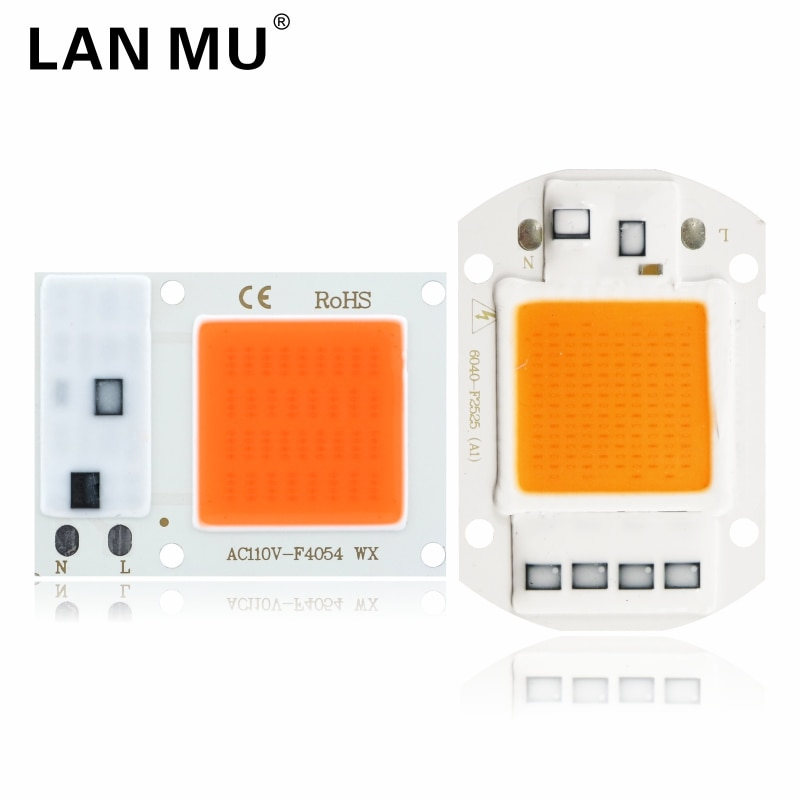 high power led chip 1w 3w 5w 10w 20w 30w 50w 100w smd cob light bead warm cold white red green blue rgb full spectrum grow light Led Cob Grow Light Chip 10w 20w 30w 50w 110V 220V Full Spectrum 380nm-840nm Grow Chip for Indoor Plant Seedling Grow and Flower