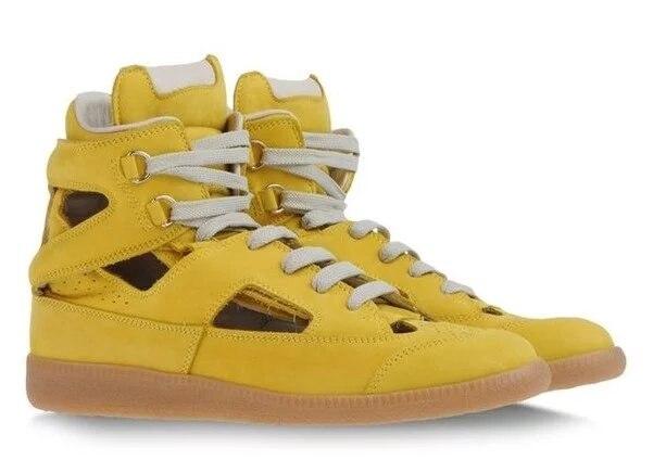 Brand Gold Men Sandals Lace up Blue Men Beach Sandals Mens Casual Shoes Summer Shoes Size 46