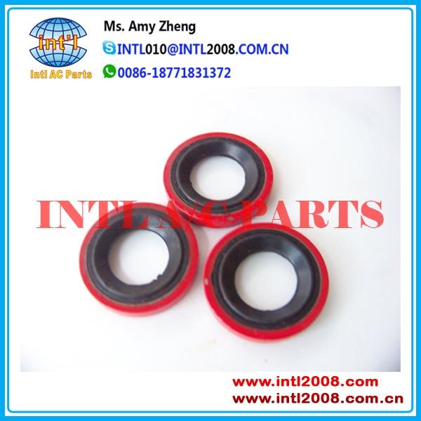 Compresor de aire acondicionado para automóvil rojo arandela de lavadora/Junta de eje de 3,8mm * 29,9mm * 15,5mm