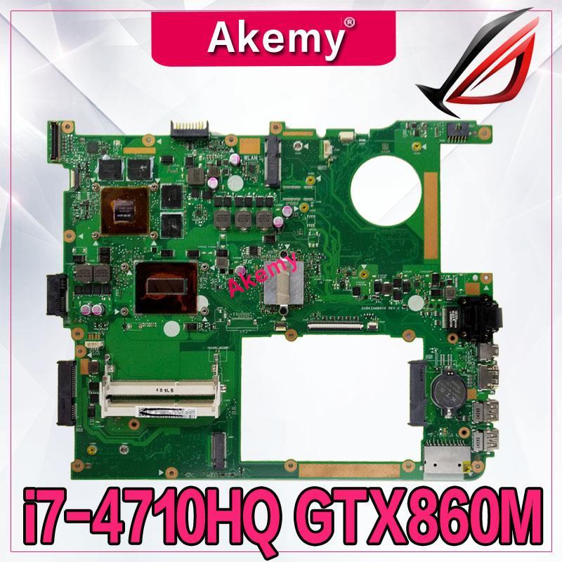 Placa base Akemy G771JM para ordenador portátil For Asus G771JM G771JW G771J G771 placa base original de prueba I7-4710HQ/4720HQ GTX860M-2G