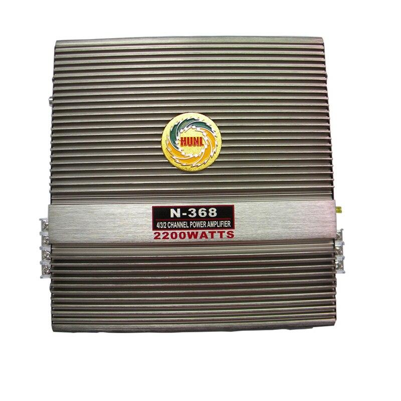 Amplificador MOSFET de 12 v, 2200 W, para Audio de coche, 2 canales, clase profesional bidireccional, potencia AB, amplificador automático de bajos de aluminio