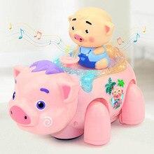 2020 New Kids Toy Electric Walking Piggy Music Light Cartoon Pig Toys for Children