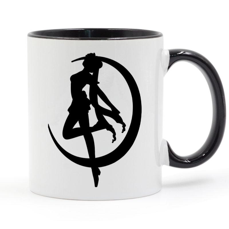 Zero Sailor Moon Mars taza café leche cerámica taza regalos creativos DIY decoración del hogar tazas 11 oz T1309