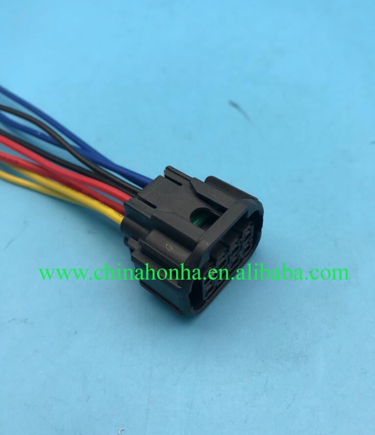 5 pçs/lote 8 pinos plugue orador carro LED farol à prova d água auto conector 1.5 do sexo feminino conectores do sensor 6189-7423