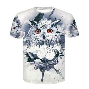 Devin du 2018 new 3D print T-shirt short sleeve T-shirt owl Men/Women T-shirt Summer T-shirt Shirt
