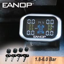 EANOP C200 Car TPMS 1.8'' LCD display Wireless Tire Pressure Monitor Tyre Sensors 1.8-6.0Bar 26-87PS