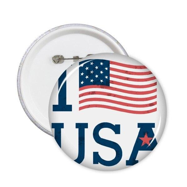 5 unids ee.uu. América bandera cultura patrón redondo Pasadores button badge ropa Patch Kid broche de regalo