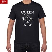 Блестящая рок-группа королева Футболка мужская крутая уличная поп-рок футболка мужская летняя 100% хлопок тяжелые Топы И Футболки в стиле рок мужская одежда