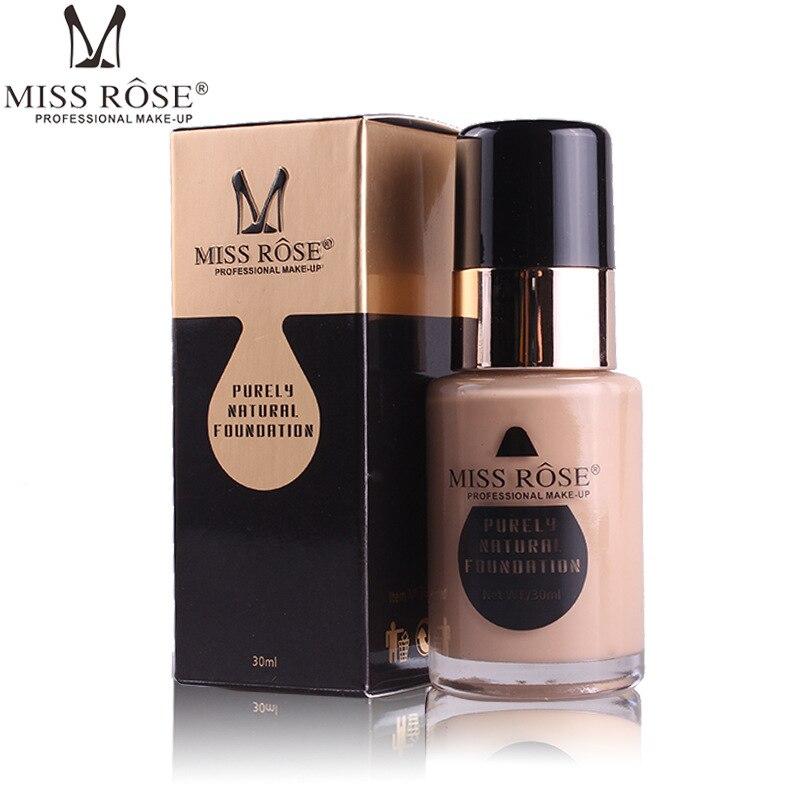 2019 MISS ROSS nuevo 7 colores cara Base líquida maquillaje corrector crema aceite-control iluminar Base Primer hacer A