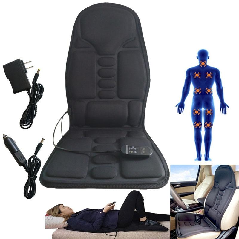 Practical Multifunctional Car Chair Body Massage Heat Mat Seat Cover Cushion Belt Neck Pain Lumbar Support Pad Back Massager