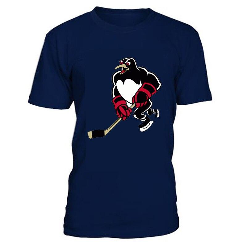 Kühle Hockey Hohe qualität Pittsburgh Eishockey Fans Baumwolle männer T Shirts Mit Druck Logo