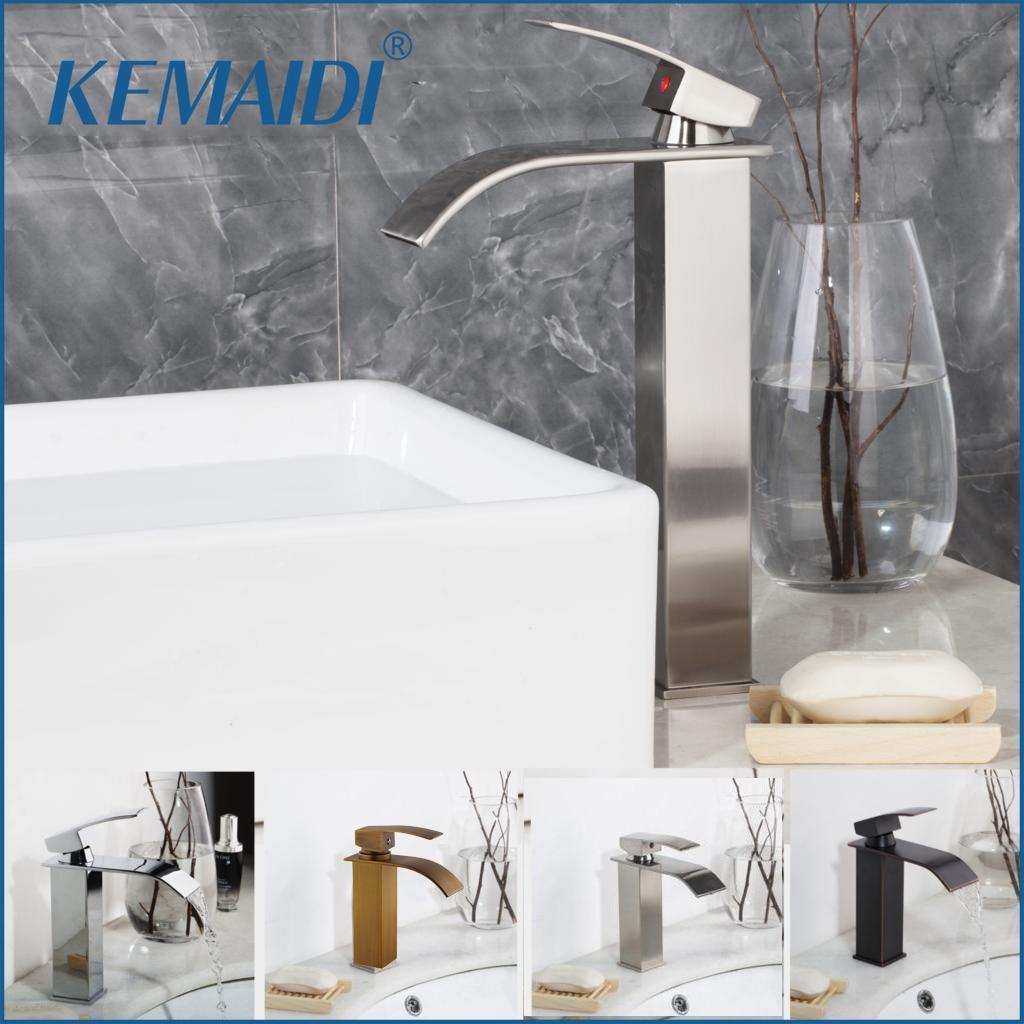 KEMAID-حنفيات حوض الحمام ذات ذراع واحد ، حنفيات حوض الشلال النحاسية العتيقة ، خلاط حوض الحمام الساخن والبارد