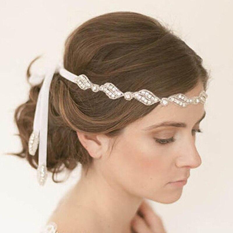 Лента на голову для волос со стразами, повязка на голову для женщин и девочек