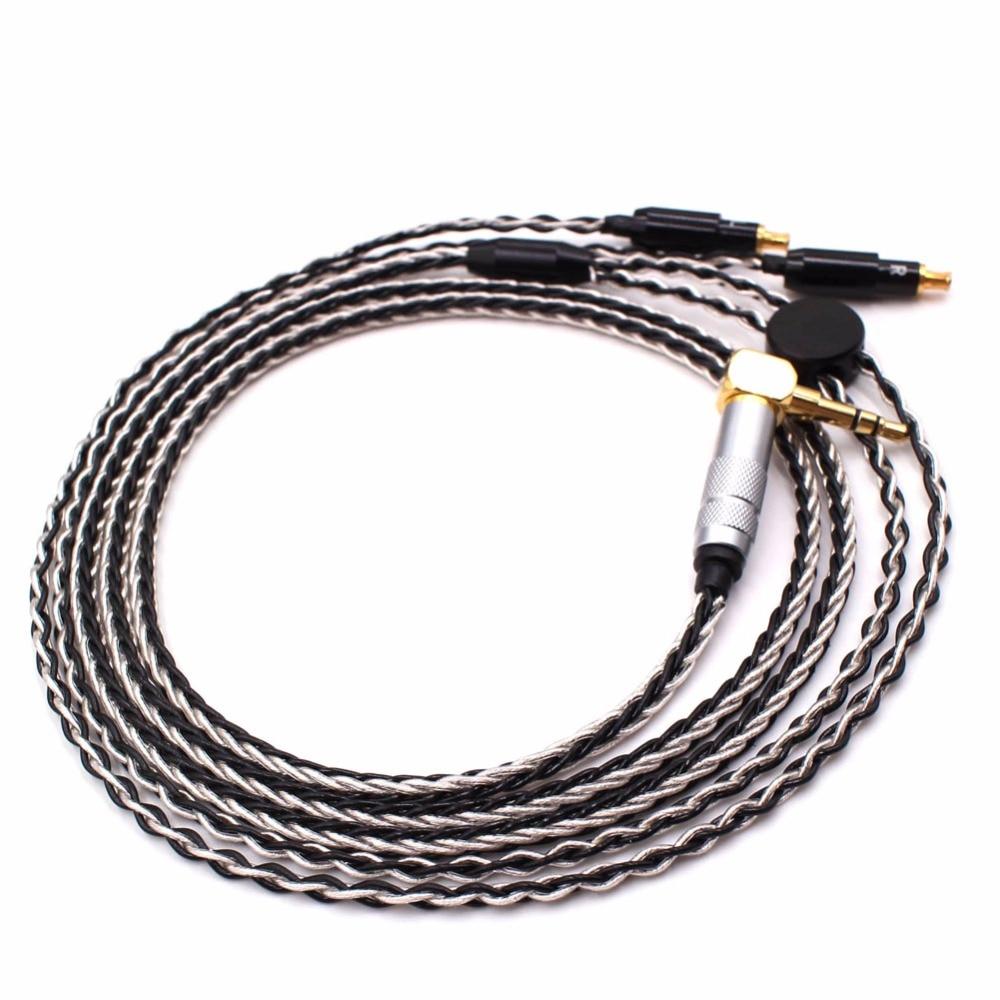 Free Shipping Haldane 1.2m 8 Cores Audio Upgrade Cable compatible with SR7B/ESW950/ES770H/990H/SR9 Headphones enlarge