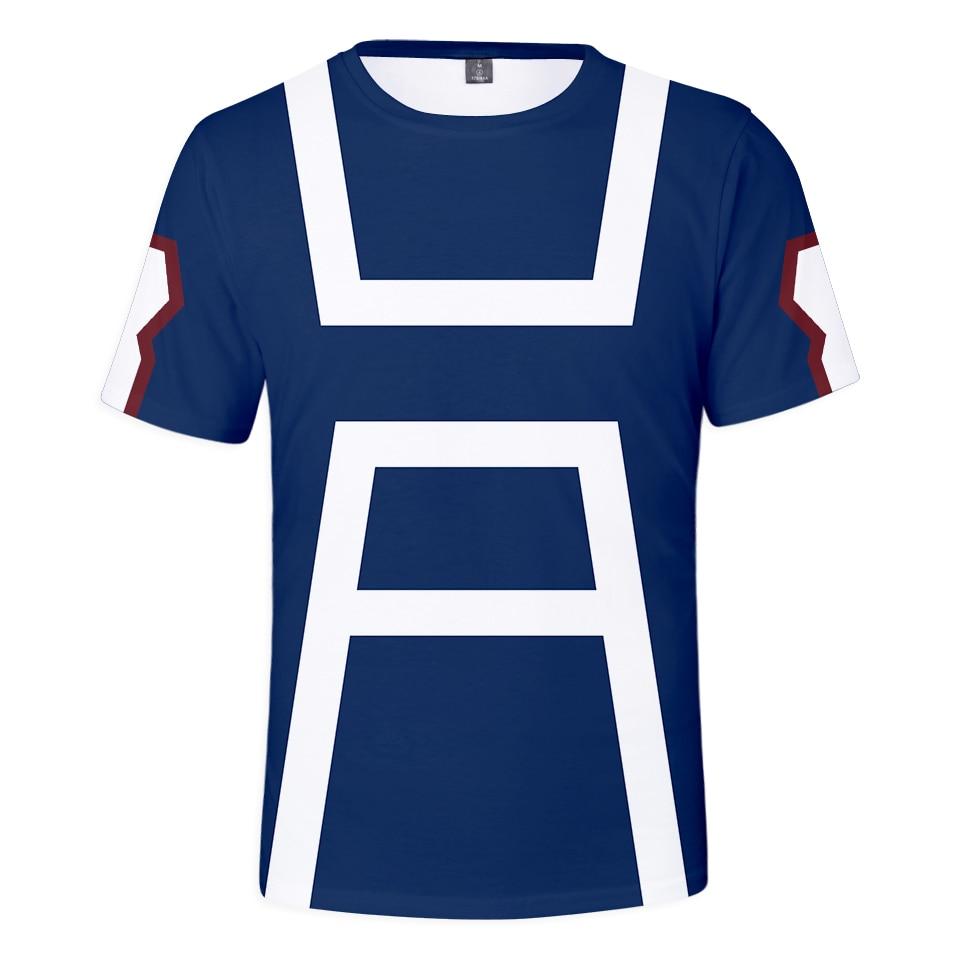 My Hero Academia Men's T-shirts Midoriya Izuku 3D Printing Tshirt School College Style Boku no Hero Academia Kids T Shirt Tops