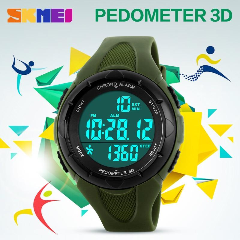 SKMEI Popular Brand Watches Women Fashion Digital LED Watch Sport Pedometer Montre Femme Female Clock Ladies Wristwatch New enlarge