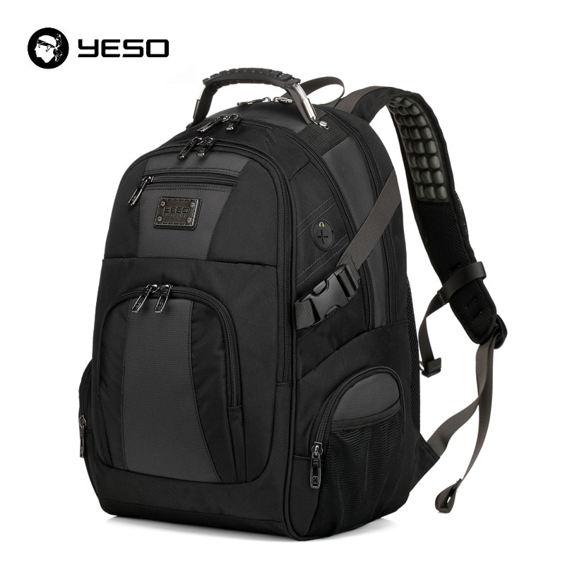 YESO-حقيبة ظهر للكمبيوتر المحمول ذات سعة كبيرة للرجال ، حقيبة ظهر للكمبيوتر المحمول متعددة الوظائف ، مقاومة للماء ، 15.6 بوصة ، للمراهقين ، حقيبة...