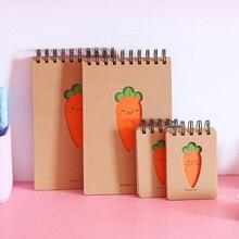Funny Spiral Carrot Notebook Portable Cartoon Carrot Memo Pads