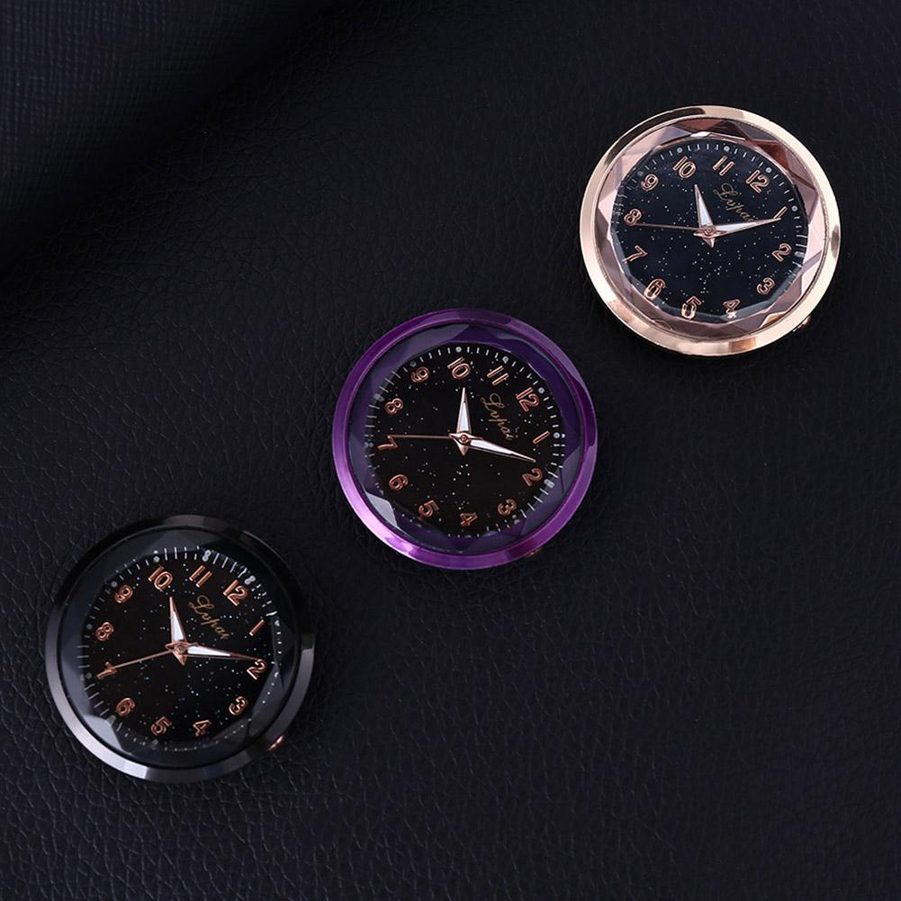 Caja de reloj de cuarzo redonda con números arábigos para coche, decoración Interior para vehículo