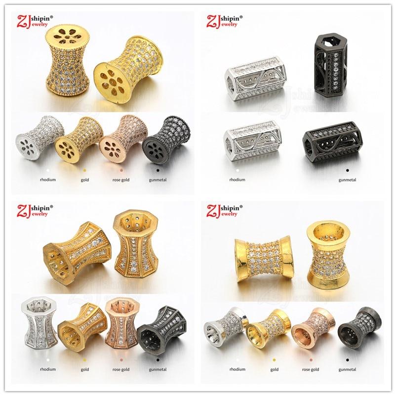 New hot DIY brass micro-inlaid zircon CZ jewelry accessories for men and women bracelets necklace je