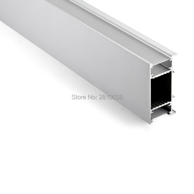 50 X 2M Sets/Lot wall washer led aluminium profile for led strip 42 mm wide U type aluminum led channel for wall lighting