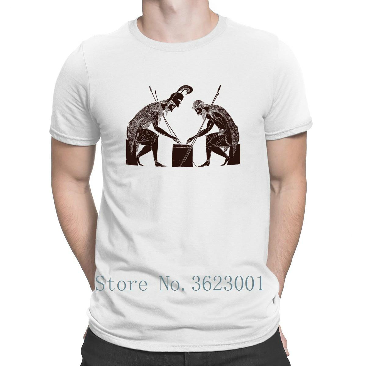 Camiseta Formal con estampado para caballero Aquiles Ajaxs, camiseta de ajedrez para hombre, la mejor camiseta peculiar, Camiseta de cuello redondo, camiseta Top