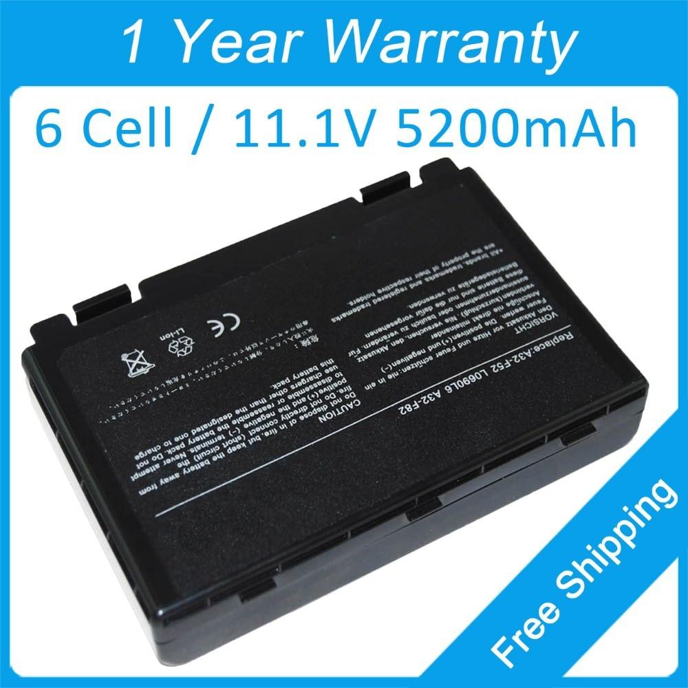 Nueva batería de ordenador portátil A32-F82 para asus X5C X5E X70 F83S...