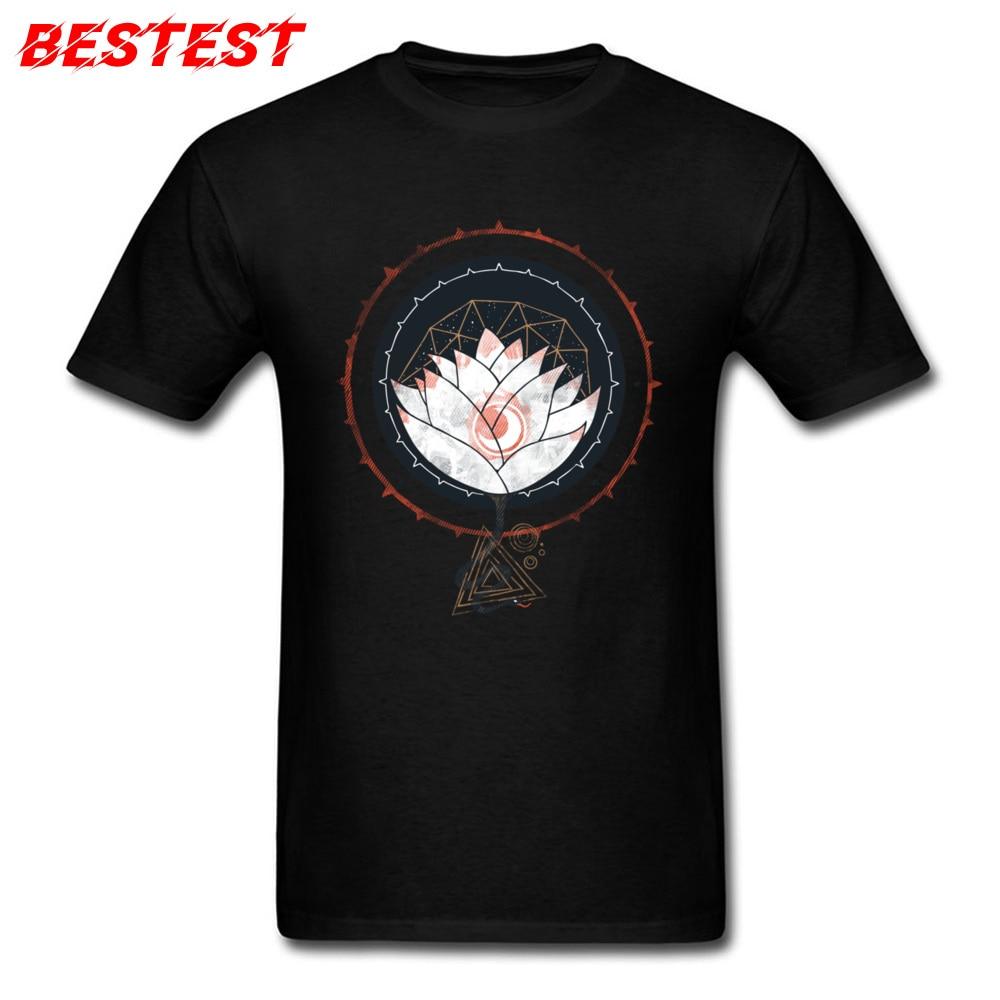 T Shirt Wholesale Men T-shirt Lotus Print Zen Tshirt Adult Vintage Clothes Buddha Mandala Tops Family Graphic Tees Custom Shop