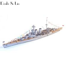 1:400 3D United Kingdom Hood Battleship Battlecruiser Paper Model Second World War Assemble Hand Work Puzzle Game DIY Kids Toy