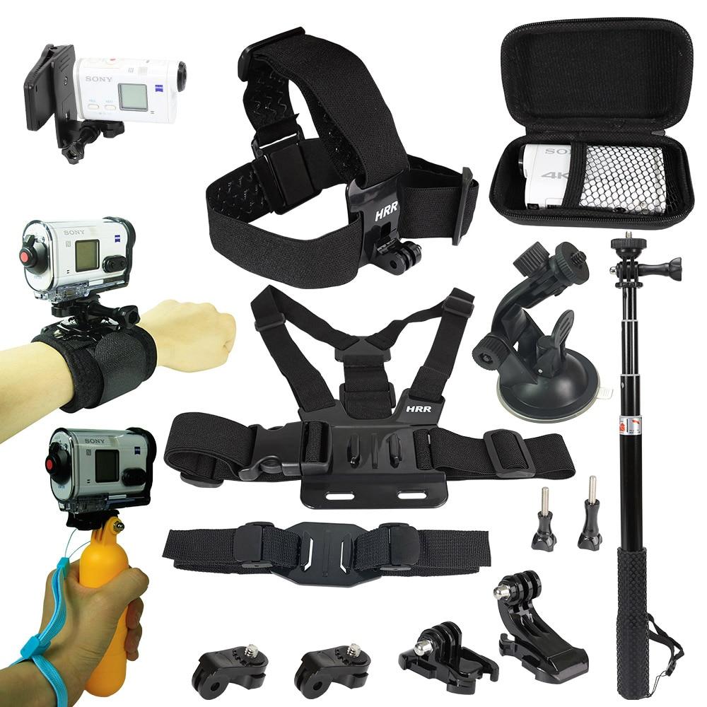 Kit de accesorios para Sony Cámara de Acción FDR x3000 Hdr-AS15 AS20...