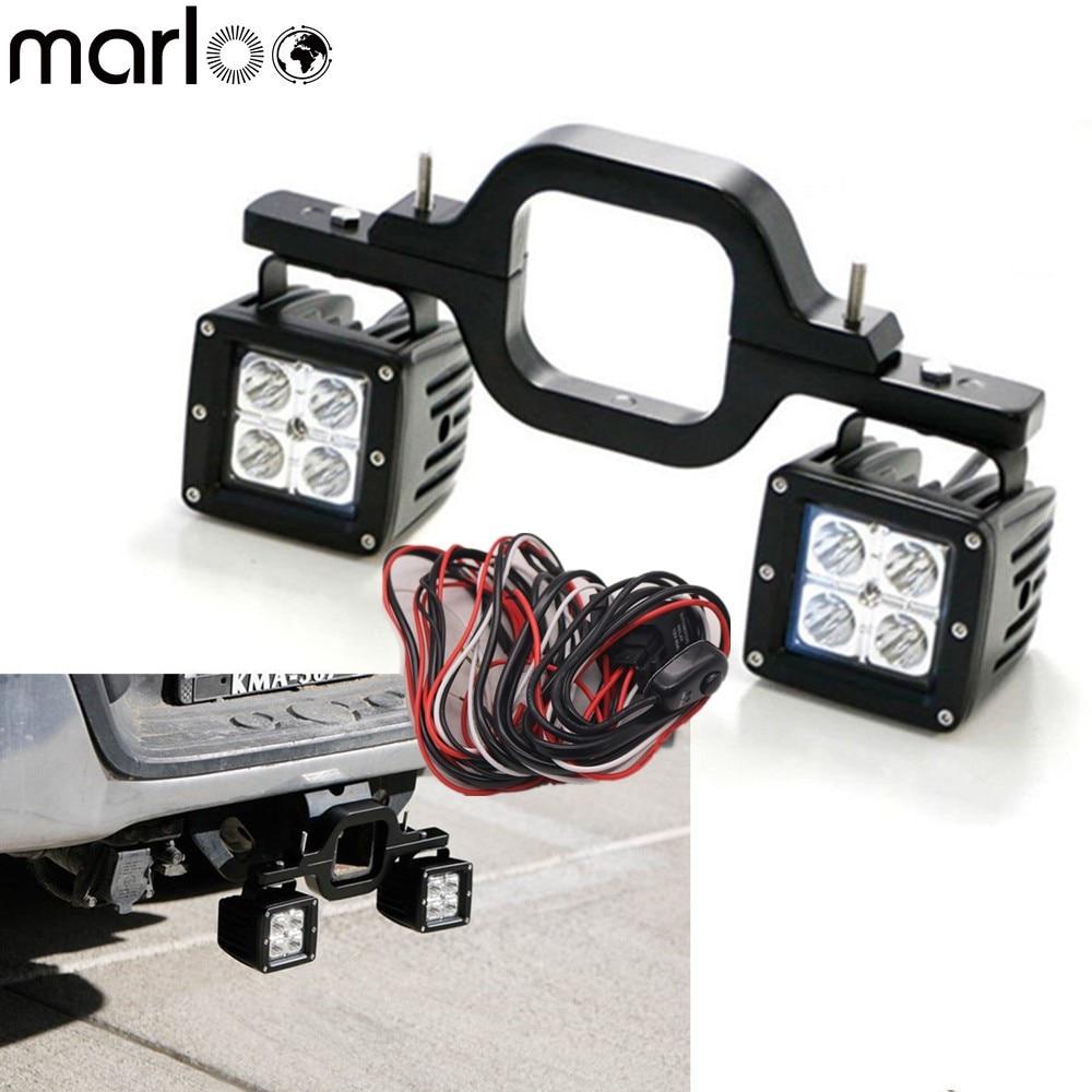 Universal Auto Tow Hitch Montage Halterung Mit 16 watt LED Licht Für Toyota FJ Cruiser Offroad SUV Lkw anhänger