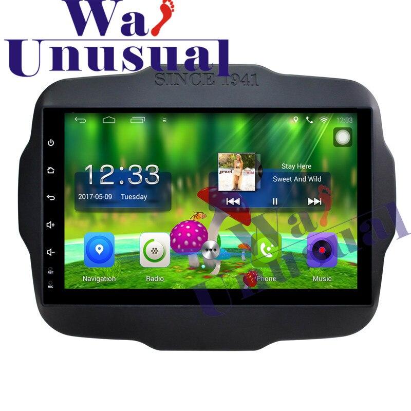 9 pulgadas Android 6,0 reproductor de vídeo para coche Radio estéreo para Jeep Renegade 2016 navegación GPS con WIFI BT 3G 1024*600 Quad Core16G mapa