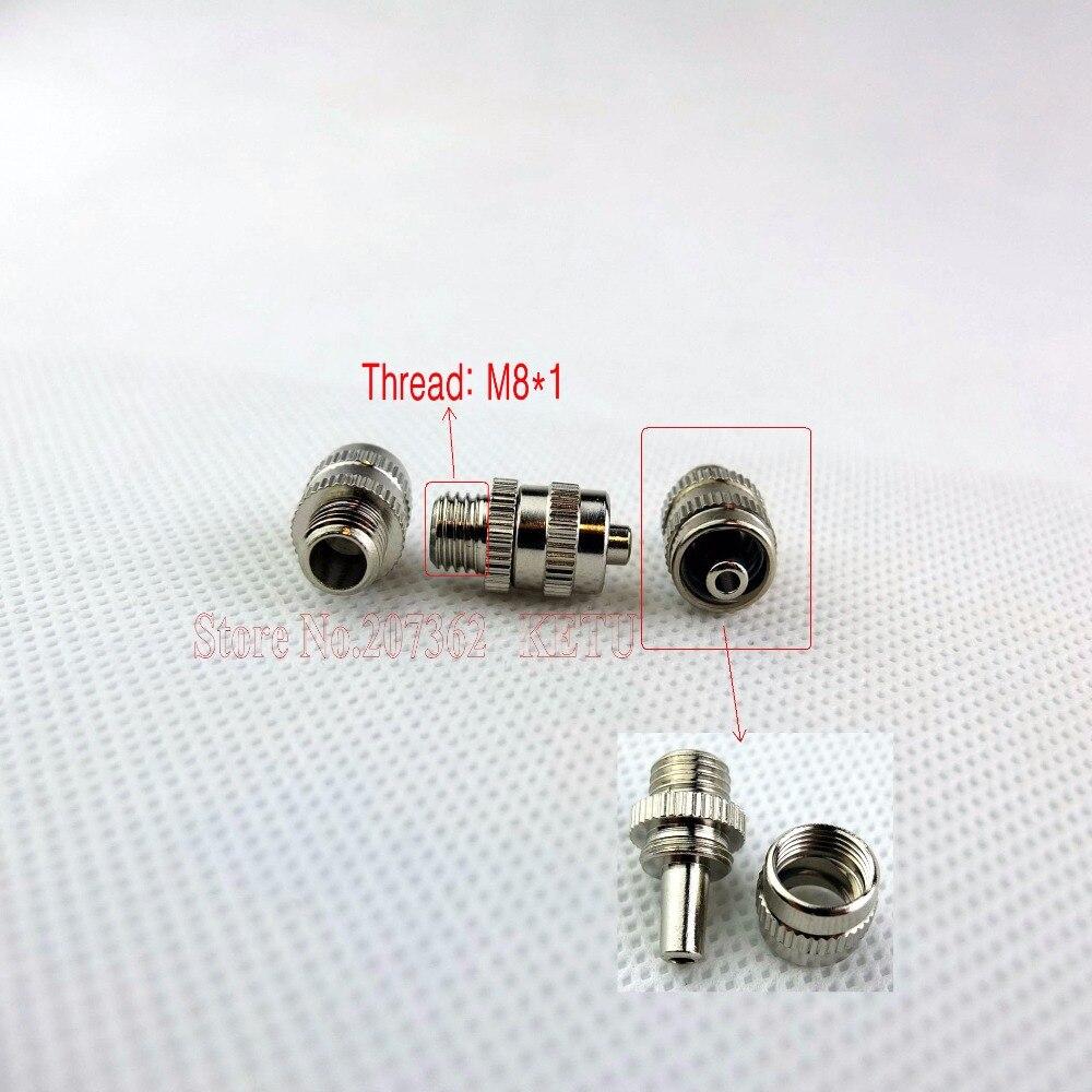Conectores macho Luer de latón niquelado M8 M6