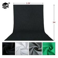 1.6X3m fotografia photographie studio vert écran Chroma clé fond toile de fond pour Studio Photo éclairage Non tissé 4 pièces