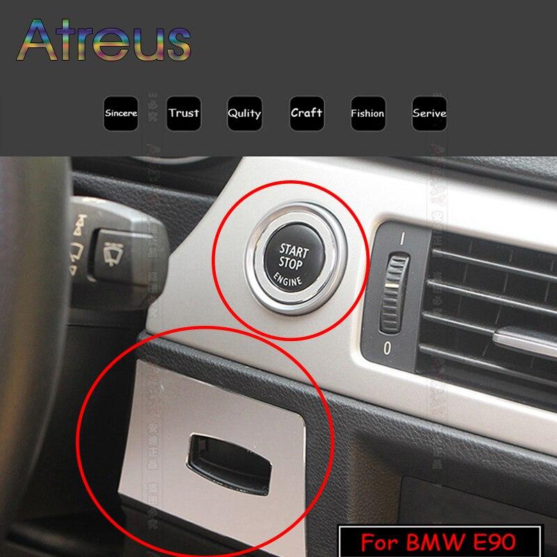 Etiqueta da liga de alumínio para bmw e90 e92 e93 2005-2012 3 séries chave buraco proteção círculo interruptor de ignição decoração círculo