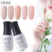 HNM 8ML Light Color Nail Gel UV LED Stamping Paint Gel Varnish Nude Light Pink Beige Gel Nail Polish Hybrid Gellak Gelpolish